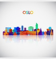 oslo skyline silhouette in colorful geometric vector image vector image