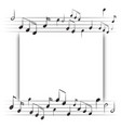 paper template with music notes in background vector image vector image
