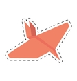 pink paper plane project business cut line vector image