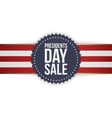 Presidents Day Sale realistic blue american Emblem vector image vector image