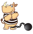 Prisoner Rhino vector image