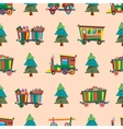 Railway train station seamless pattern vector image