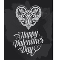 Retro Chalkboard Valentines Day design vector image vector image