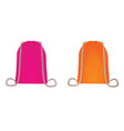 rose and orange backpack bag vector image vector image