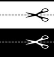 scissors set black and white silhouettes vector image