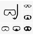 Scuba masks vector image vector image