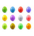 set colored easter eggs vector image