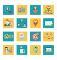 Set of office and business icons vector image vector image