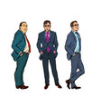 set three businessmen vector image