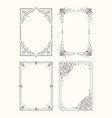 set vintage frames decorative border corners vector image vector image