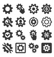 settings and options icons set vector image vector image