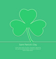 shamrock outline icon st patricks day vector image