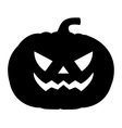 Silhouette of a terrible evil pumpkin vector image vector image