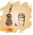 sketch - coffee vector image