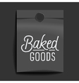slogan object packet baked goods vector image vector image