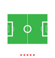 soccer field it is icon vector image vector image