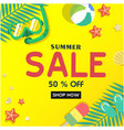 summer sale 50 off shop now ice cream starfish be vector image vector image