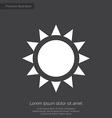 sun premium icon white on dark background vector image vector image