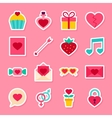 Valentine Day Stickers vector image vector image
