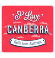 vintage greeting card from canberra vector image vector image