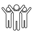 volunteer group icon outline style vector image vector image