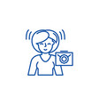 waiting for a letter line icon concept waiting vector image