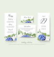 wedding floral personal menu place details vector image