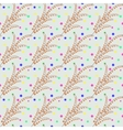 Floral twig abstract seamless pattern vector image