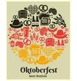 Oktoberfest Beer Festival label vector image