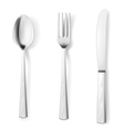 Cutlery fork spoon knife vector image