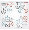 Set of infographics report template layout vector image
