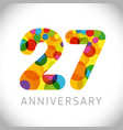 27 years anniversary circle colorful logo vector image vector image
