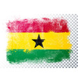 abstract grunge flag ghana vector image vector image