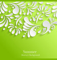 Abstract Summer Green Background with 3d Floral vector image vector image