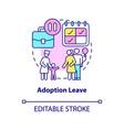 adoption leave concept icon