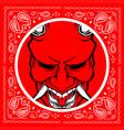 bandana skull demon vector image vector image
