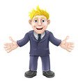 blonde businessman cartoon vector image vector image