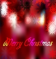 blurred background with snowflakes 1 vector image vector image