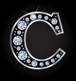 c letter made with diamonds isolated on vector image vector image