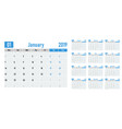 calendar planner 2019 template vector image