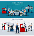 car service banners set vector image vector image