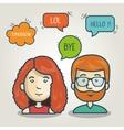 cartoon character bubble speech talk graphic vector image vector image