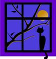 cat on window vector image