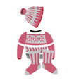 christmas pattern on winter clothes or knitwear vector image vector image