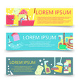 cleaning service banners template vector image vector image