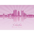 Columbus skyline in purple radiant orchid vector image vector image