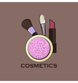Cosmetics label for design vector image vector image