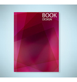 Cover report red abstract background vector image vector image