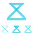 Cyan line loop logo design set vector image vector image