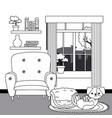dog cartoon design vector image